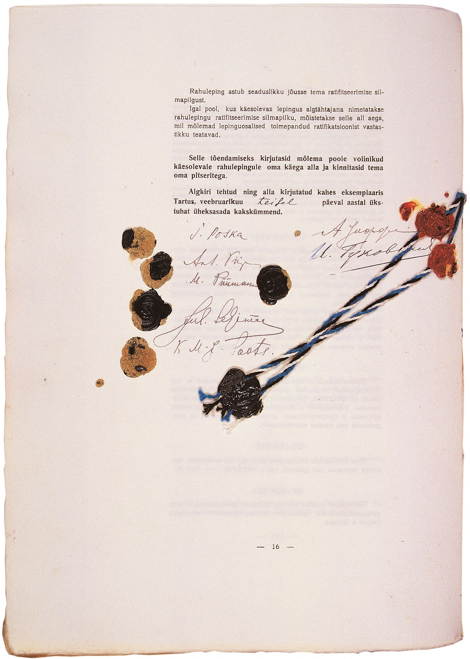Signings of Tartu Peace Treaty. Photo: National Archives of Estonia