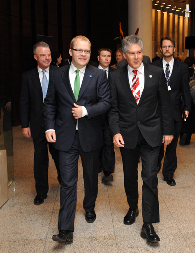 Foreign Minister Paet And Australian Foreign Minister Smith
