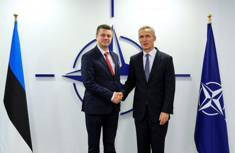 Foreign Minister Urmas Reinsalu and the Secretary General of NATO Jens Stoltenberg