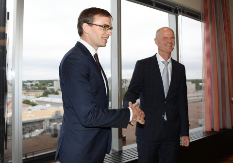 Foreign Minister Sven Mikser and Dutch Foreign Minister Stef Blok