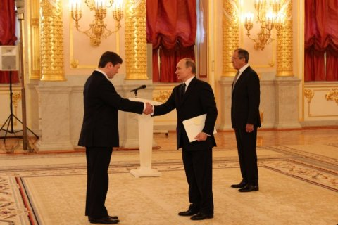 Estonia's Ambassador to Russia Arti Hilpus presented his credentials