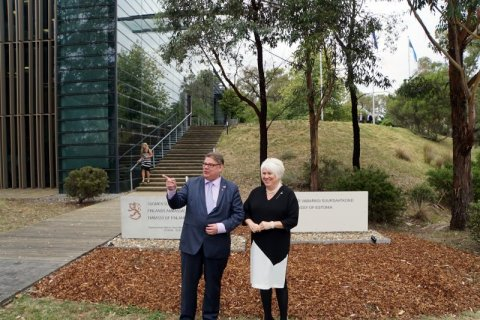 Foreign Minister Kaljurand opened the Estonian Embassy in Australia