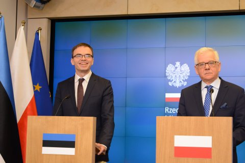 Foreign Minister Sven Mikser ja Foreign Minister of Poland Jacek Czaputowicz