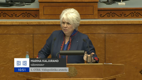 Foreign Minister Kaljurand in the Riigikogu: Foreign policy plays a key role in ensuring Estonia's security